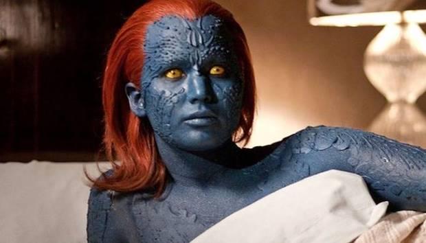 Jennifer Lawrence berperan sebagai mutan bernama Mystique dalam film sekuel terbaru X-Men: Apocalypse. Facebook.com
