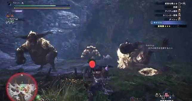 史上最刺激《魔物獵人世界》獵人成功誘出3隻金獅子互毆 🐵🐵🐵