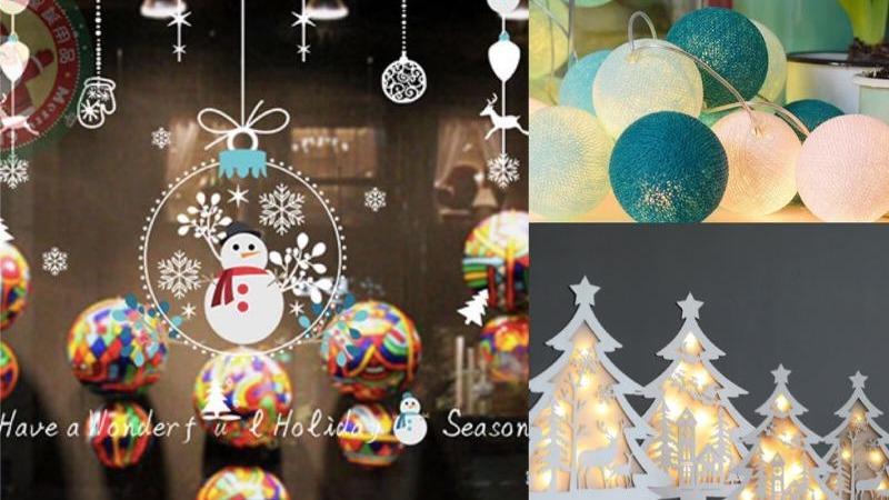 簡單壁紙×燈飾就超有浪漫聖誕感!女孩會愛~居家聖誕佈置用品
