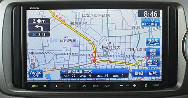 駕駛者可以透過GPS導航揀選是否選擇行高速公路,通常有最快路程、最平路程等選擇,行高速公路當然最快最費用亦是最貴。(互聯網)