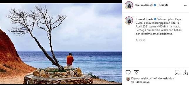 Ayah mertua Dian Sastro meninggal (Instagram/@therealdisastr)