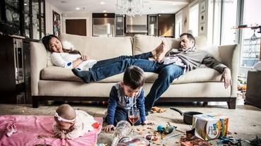 攝影師超寫實親子攝影 有小朋友就是要混亂!