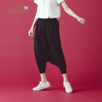 【Dailo】格紋拼接米老鼠-長褲