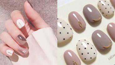 【撩男美人計】這根本就是仙女的手指~盤點10款仙氣滿溢的「焦糖奶茶」色美甲!