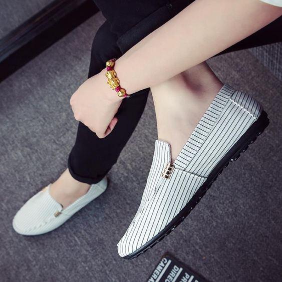男鞋韓版豆豆鞋男懶人鞋布鞋百搭休閒男潮流社會小伙鞋子