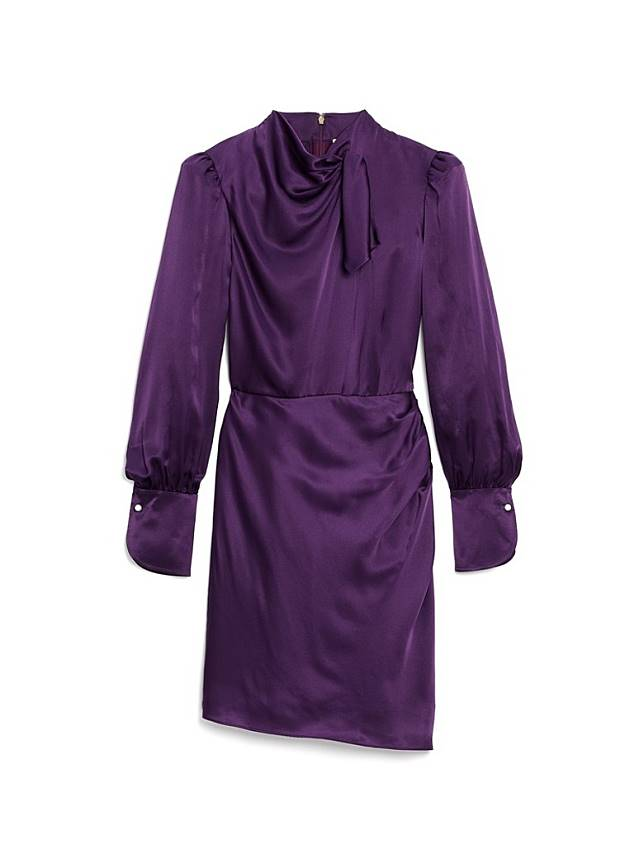 KATE SPADE紫色絲質連身裙(互聯網)