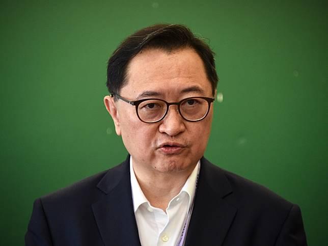馮驊呼籲市民投票當日保持冷靜。資料圖片