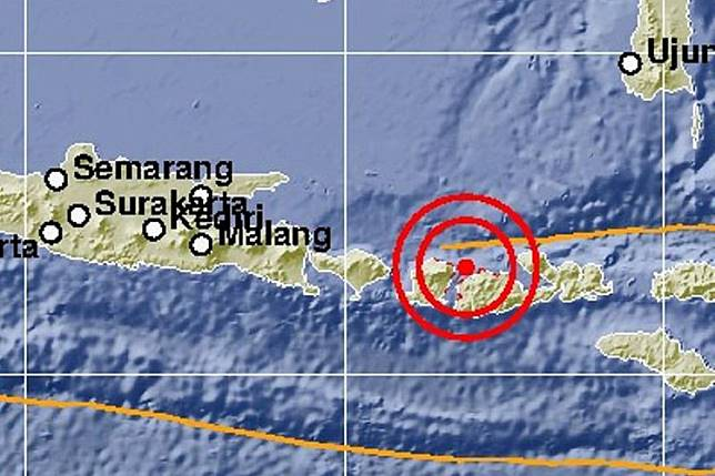 Pusat gempa Lombok 19 Agustus 2018 pukul 21.56 WIB   Artikel ini telah tayang di Kompas.com dengan judul