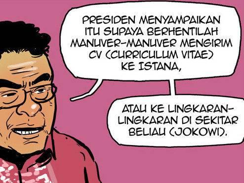 Komik: Minta pekerjaan kepada Jokowi