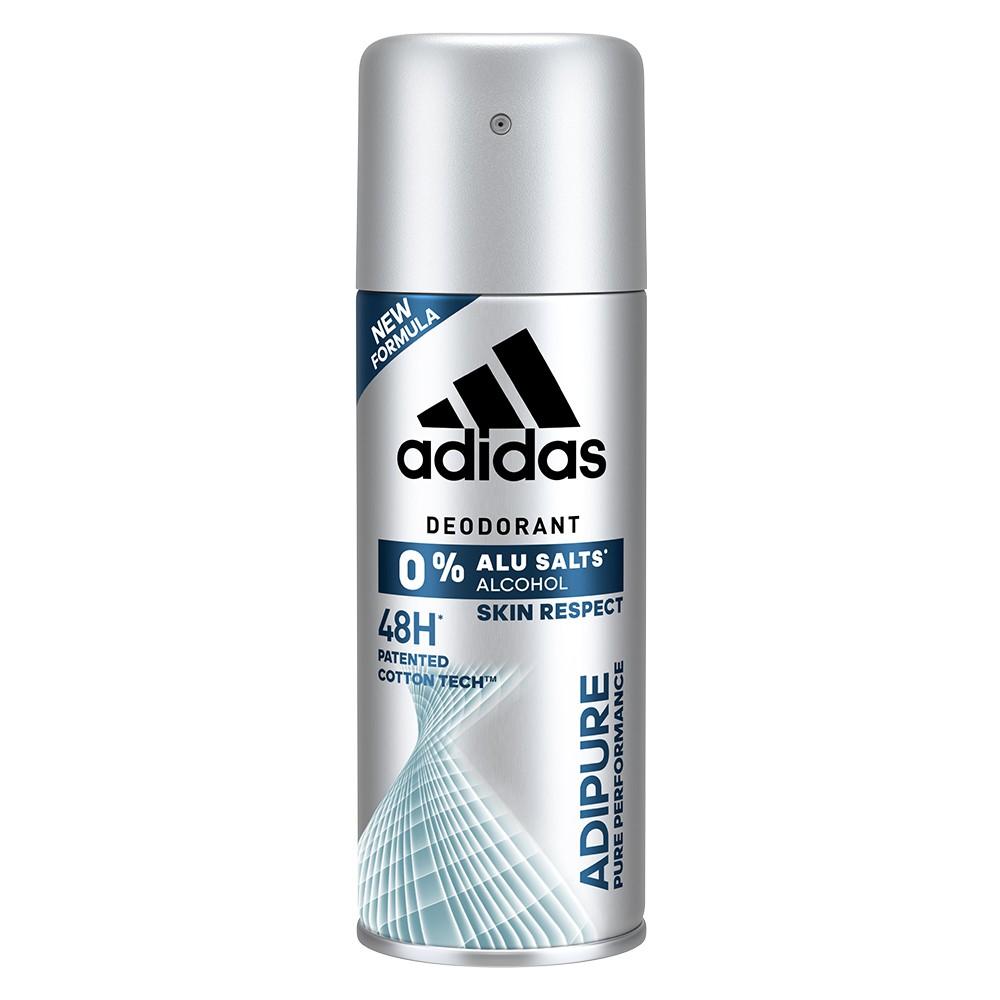新品上市-adidas愛迪達 男用純淨舒爽淨味爽身噴霧150ml