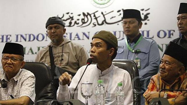 Abdul Somad in a press conference with Indonesian Ulema Council (MUI) in Jakarta, Wednesday, August 21, 2019. TEMPO/Subekti