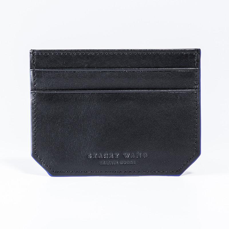 Retro Gentleman隨身卡片夾 - Black/Blue