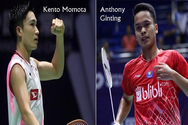 Anthony Ginting vs Kento Momota, Fokus Jadi Kunci Kemenangan