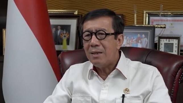 Menteri Hukum dan Hak Asasi Manusia (Menkumham), Yasonna Hamonangan Laoly