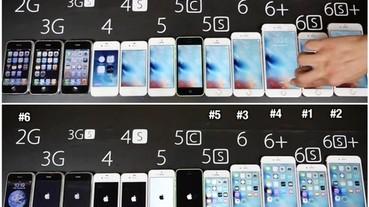 IPHONE 6S PLUS輸?震撼全球果迷12代同堂IPHONE性能大比併