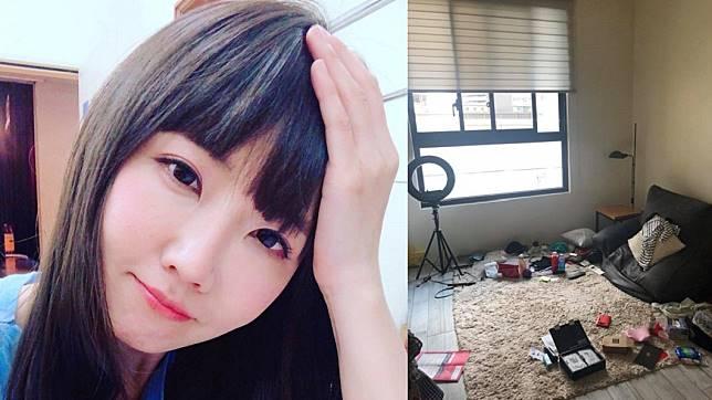 謝忻曾在去年底在自己臉書粉絲團發文和分享照片,稱說自家客廳亂,以為是被闖空門。(圖/翻攝自謝忻臉書)