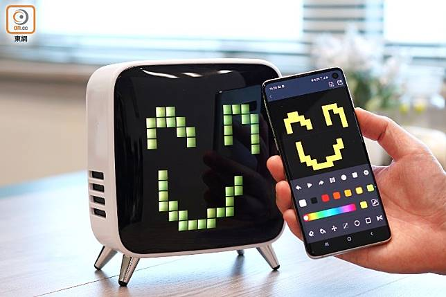 對應《Divoom Smart》App,可以遙距控制Tivoo Max。(張群生攝)