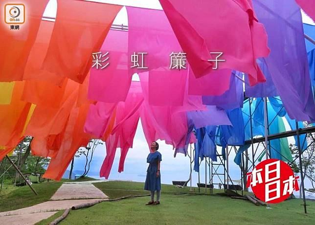 由200張色彩繽紛的簾子構成的虹之簾子,肯定成為今夏的打卡熱點!(互聯網)
