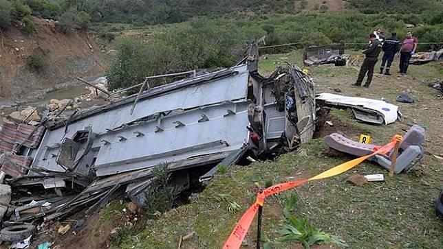 Kecelakaan bus di Tunisia.