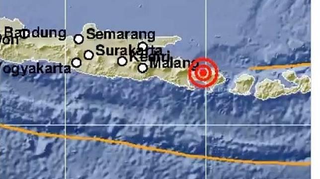 Gempa berkekuatan magnitudo 5,1 mengguncang Bali Utara pada Kamis (14/11/2019). [Twitter/BMKG]