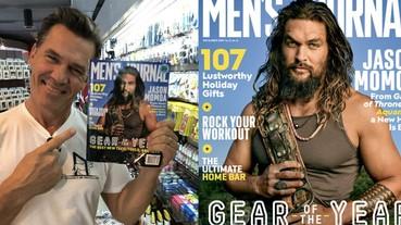 手拿《水行俠》封面雜誌,「薩諾斯」喬許布洛林:「感謝雜誌再次讓我登上封面!」