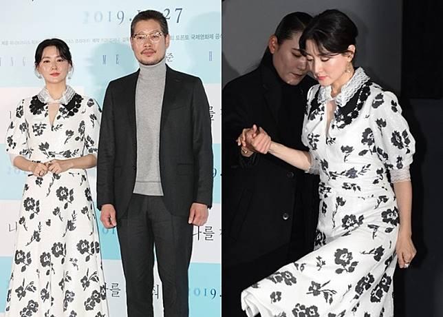 李英愛今午與劉在明出席新片《尋找我》的傳媒首映禮。