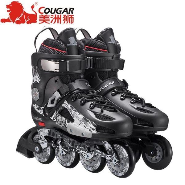 食尚玩家 美洲獅溜冰鞋成人專業花式平花鞋直排輪滑鞋單排旱冰鞋滑冰鞋