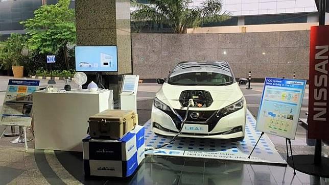 Nissan leaf at Japan Embasssy