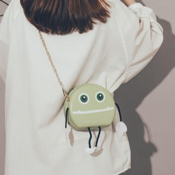 可愛小包上新質感小包包女2019新款潮韓版百搭斜背包女可愛卡通鏈條手機包 唯伊時尚