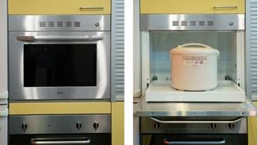 「電鍋專用」的櫥櫃如何偽裝成烤箱?