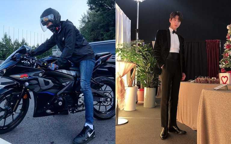 穿上合身褲款後,黃仁燁的腿長程度更驚人!(圖/翻攝黃仁燁IG)