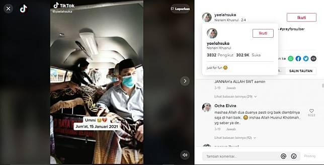 Viral suami istri meninggal selang 6 hari (TikTok).