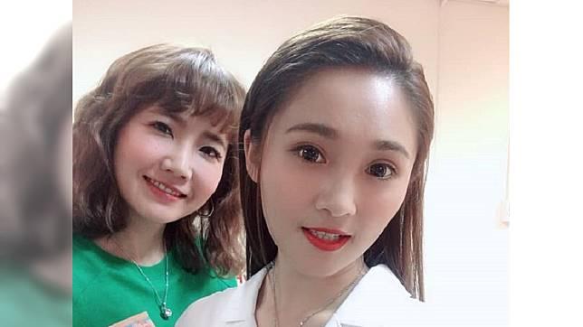 藝人謝忻(左)與閨蜜張文綺(右)。圖/翻攝自張文綺 Shiny 臉書