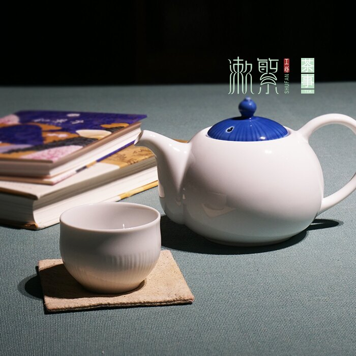 壺(600ml)日本白瓷茶具下午茶泡茶壺小清新瓷器茶具大容量花茶紅茶壺杯
