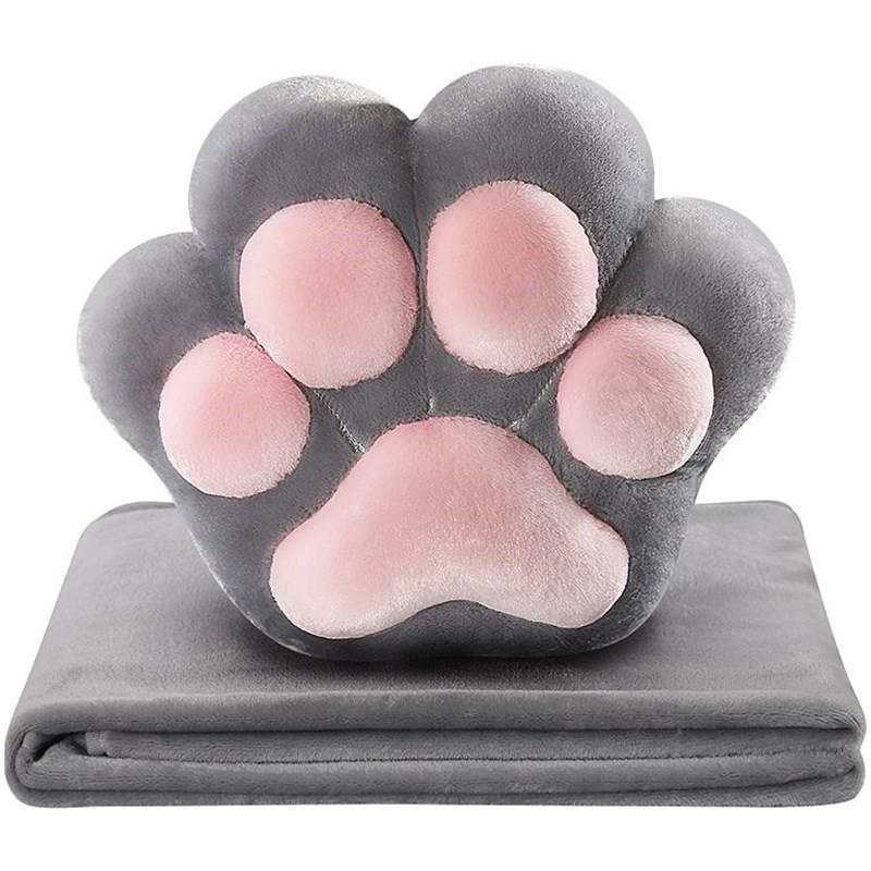 療癒貓肉球抱枕毛毯【QZZZ6292】(現貨)