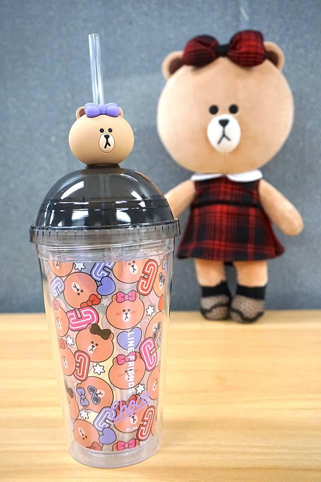 立體杯蓋裝飾別注版水杯($199)