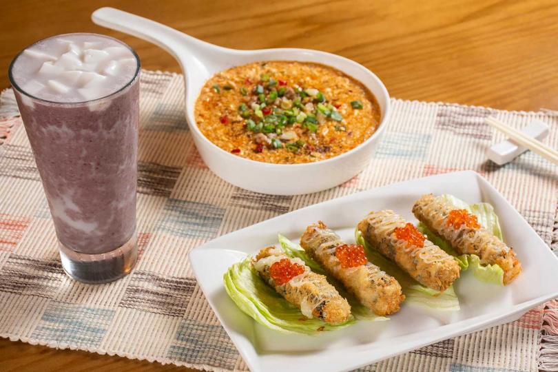 台北米其林必比登推薦餐廳推出香辣夠勁的新菜式,與復古當紅的夏日冰品冷飲。(圖/欣葉小聚提供)