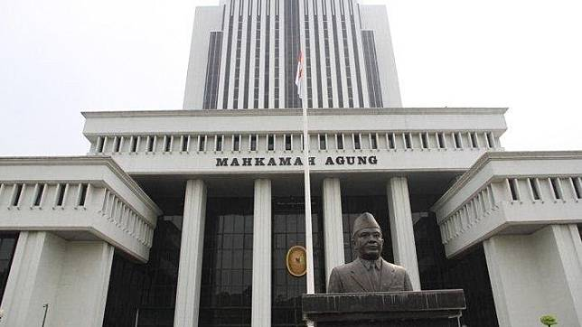 The Supreme Court building in Central Jakarta.