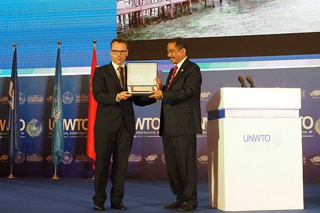 Indonesia memenangkan kategori video pariwisata terbaik di area Asia Timur dan Pasifik, serta People Choice Award.(KEMENTERIAN PARIWISATA)