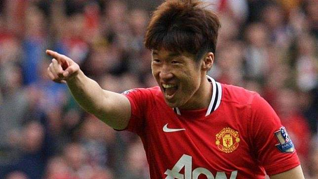 Park Ji-Sung saat masih bermain bersama Manchester United