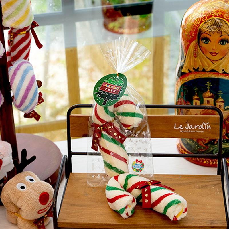 【台灣興隆毛巾】聖誕拐杖糖