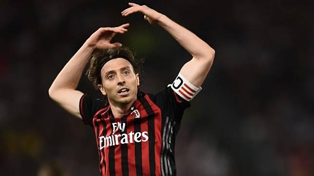Mantan kapten AC Milan, Riccardo Montolivo. (Filippo Monteforte/AFP)