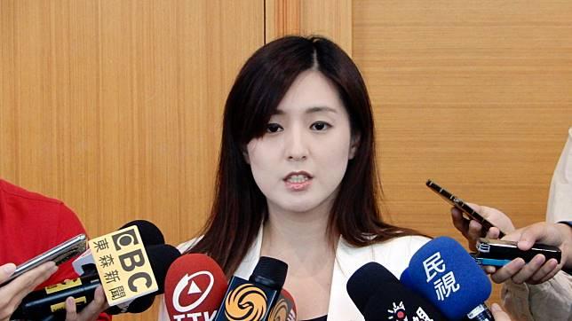 韓國瑜陣營發言人何庭歡。(圖 / 記者陳弘志攝)