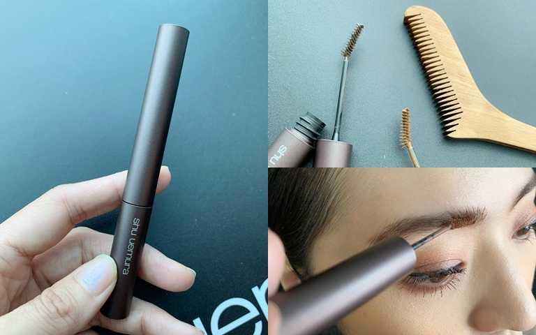 從來沒見過染眉膏是這樣的刷頭設計!可以很輕鬆的貼合眉型。(圖/吳雅鈴攝影)