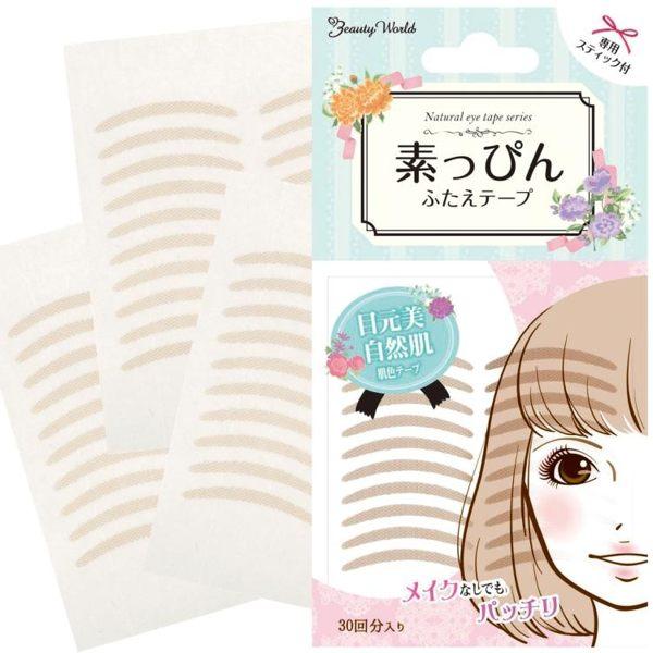 Lucky Trendy 日本素肌雙眼皮貼 膚色無痕自然隱形女肉色蕾絲網狀 曼莎時尚