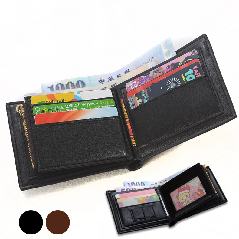 【商品特色】  1.完全合理利用空間,小空間大容量的代表。  2.二個大鈔位,分類非常方便。  3.零錢袋設計,不怕零錢掉出。  【商品規格】  貨號:PJ021  結構:橫款-11卡位 1相位片 2sim卡位 2大鈔位 1拉鏈袋    直款-09卡位 1相位片 2sim卡位 2大鈔位 1拉鏈袋   尺寸:橫款-寬12公分x高10公分x厚1.5公分    直款-寬10公分x高12公分x厚1.5公分  (手工測量誤差1-2cm為正常範圍,請勿以此給於負評)  顏色:黑色 咖啡色  (造成色差因素非常多,我們盡量調整到跟實品一樣了 但我的畫面跟你的不一定一樣)  外部材質:人造皮革