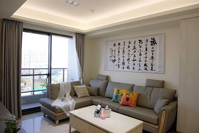 簡約輕柔的客廳空間