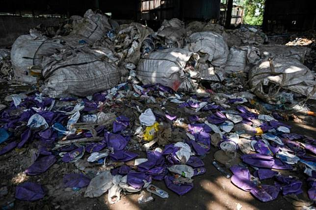 Plastic waste at an abandoned factory in Jenjarom, a district of Kuala Langat, outside Kuala Lumpur. Malaysia's Environment Minister Yeo Bee Yin said plastic waste is being smuggled in from developed countries such as the United Kingdom, Australia, United States and Germany.