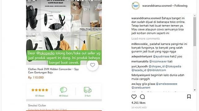 Heboh Gantungan Baju dengan Kamera Sembunyi, Dijual di Toko Online Bikin Resah Gan!