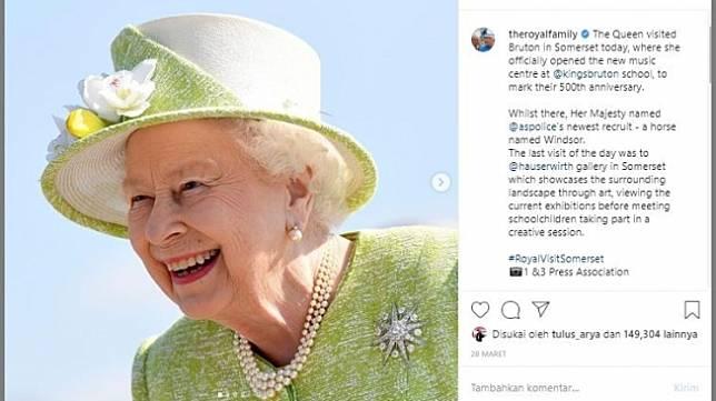 Ratu Elizabeth II. (Instagram/@theroyalfamily)